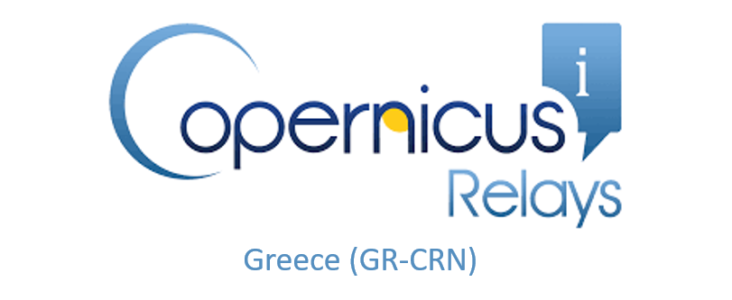 Logo of Copernicus Relay Network in Greece (GR-CRN)